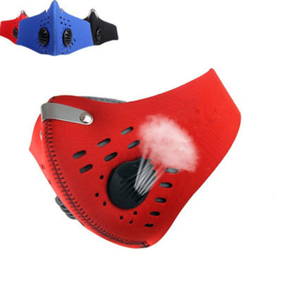 Carbon Dust-proof Winter Breathable Mesh Bicycle Mask Dust Smog Windproof Protective Mesh Bike MTB Cycling Half Face Mask