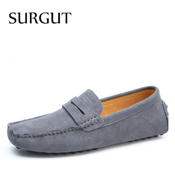 Fashion Summer Style Soft Moccasins Men Loafers High Quality Genuine Leather Shoes Men Flats Gommino Driving Shoes - 88digital