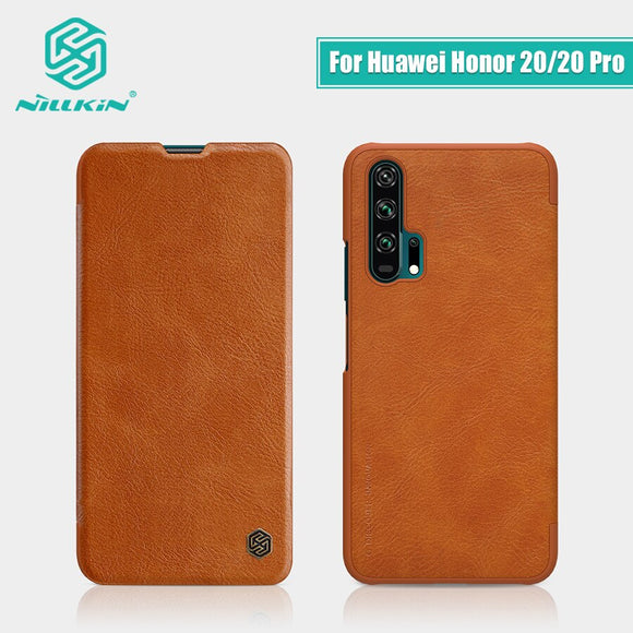 For Huawei Honor 20 Case Cover 6.26'' NILLKIN Vintage Qin Flip Cover wallet PU leather + PC For Huawei Honor 20 Pro case