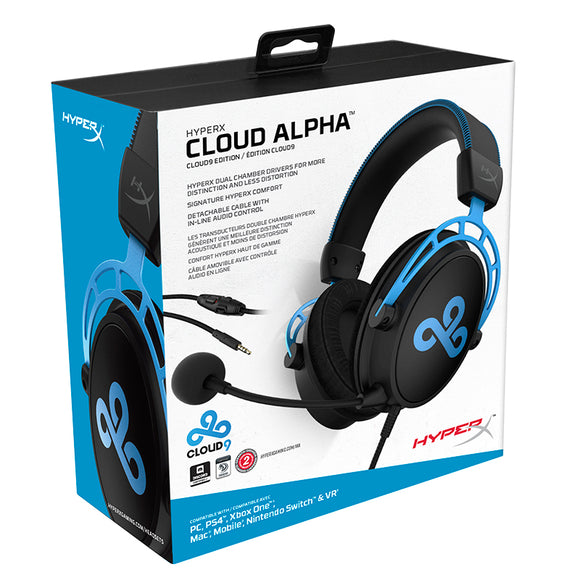 Kingston HyperX Cloud Alpha Cloud9 E-sports Headphones with Microphone Gaming Headset for PC PS4 Xbox Mobile