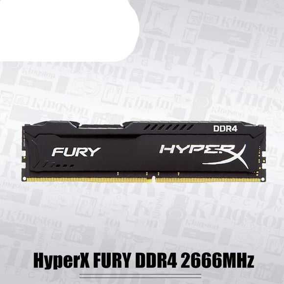 Original Kingston HyperX FURY DDR4 2666MHz 8GB 16GB Desktop RAM Memory CL16 DIMM 288-pin Desktop Internal Memory For Gaming