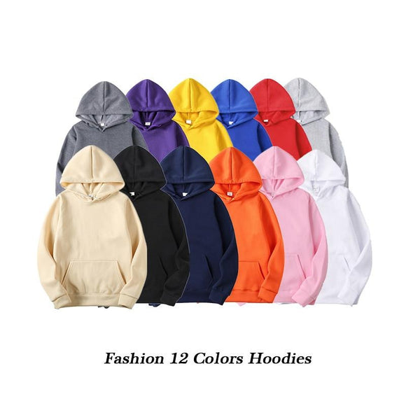 Men Hoodie 2019 Autumn Male Hip Hop Streetwear Men Pullover Sweatshirts Hoodies Mens Solid Color Hoodie - 88digital