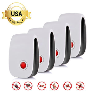 2/4/6/8 Pack Ultrasonic Pest Repeller Reject Electronic Repellent Killer Anti Mosquito Insect Repelent Rejector USA - 88digital