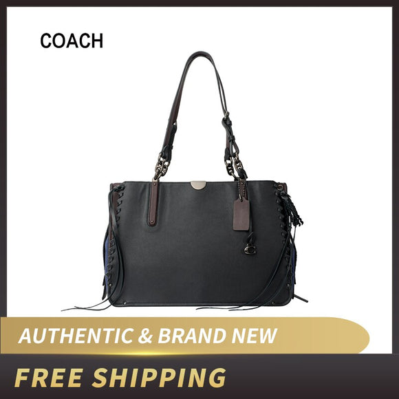 Original Coach Dreamer Tote Smooth Leather & Suede Tote Bag 39235