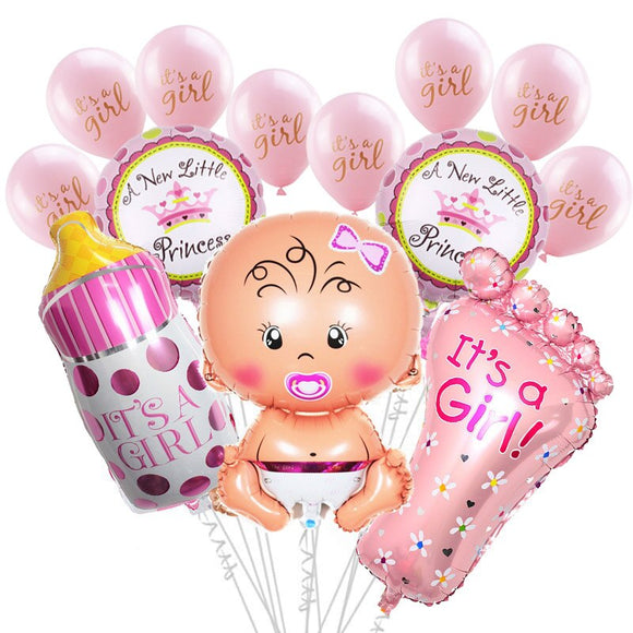 Baby Shower Boy Girl Hanging Decoration It's A Boy Girl Oh Baby Balloon Gender Reveal Kids Birthday Party Decoration Supplies