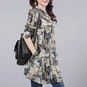 Fashion Female Cotton Blusas 2019 Autumn Kimono Long Floral Print Women Tops and Blouses Plus Size Cardigan Tunic Women's Shirts - 88digital