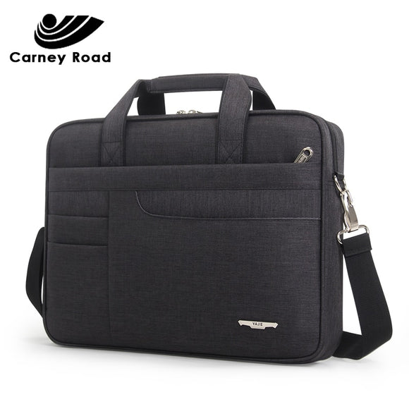 Waterproof Men Women 14 15.6 inch Laptop Briefcase Business Handbag for Men Large Capacity Messenger Shoulder Bag - 88digital