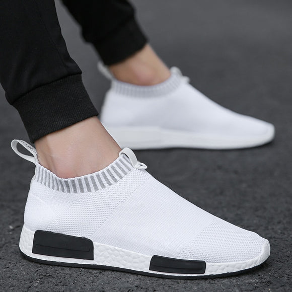 Men Shoes  Sneakers Men Breathable Air Mesh Sneakers Slip on Summer Non-leather Casual  Lightweight Sock Shoes Men Sneakers - 88digital