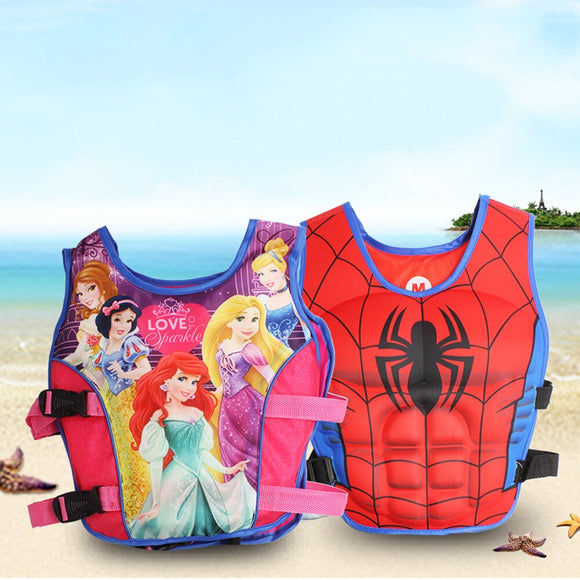 Kids Life Jacket Floating Vest Boy Girl Cartoon Swimsuit Sunscreen Floating swimming pool accessories ring For Drifting Boating