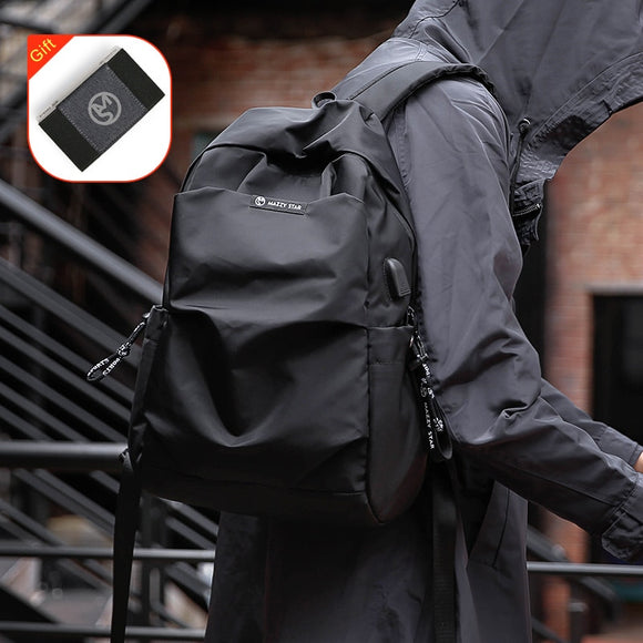 School Fashion Men Backpack Bag Water Proof Backpack men External USB Charge Bag - 88digital