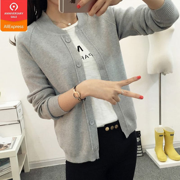 Spring summer female knit cardigan sweater coat short female a little shawl knitted jacket female 12 color - 88digital