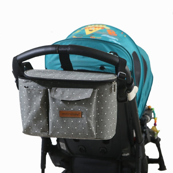Baby Stroller Organizer Bag Mummy Diaper Bag Hook Baby Carriage Waterproof Large Capacity Stroller Accessories Cart Hanging Bag