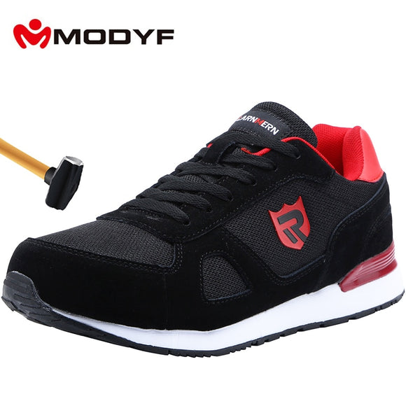 Work Boots Construction Men's Outdoor Steel Toe Cap Shoes Men Puncture Proof High Quality Lightweight Safety Shoes - 88digital