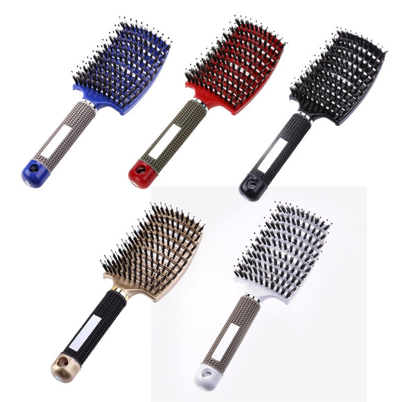 Hair Scalp Massage Comb Hairbrush Bristle Nylon Women Wet Curly Detangle Hair Brush for Salon Hairdressing Styling Tools - 88digital