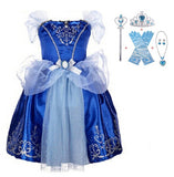 Halloween Cinderella Dress Costume Kids Dresses For Girls Elsa Dress Vestidos Children Snow White Princess Dress Rapunzel Aurora - 88digital