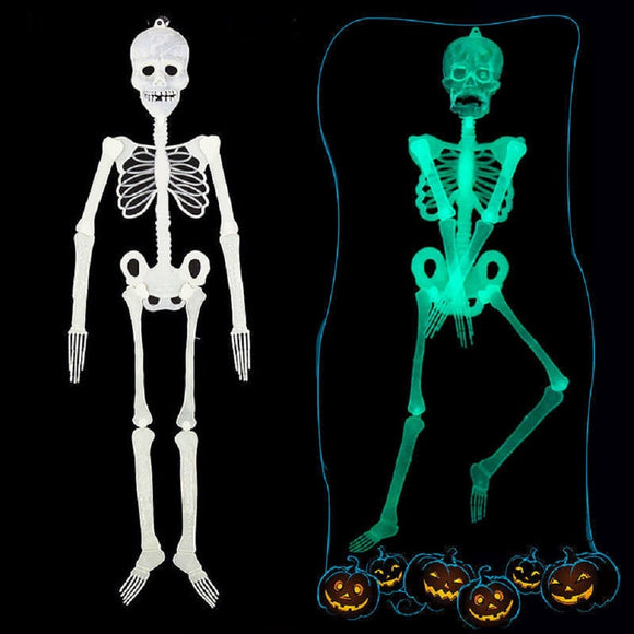 Halloween Horror Luminous Movable Skull Skeleton Halloween Props Glow Evil Party Favors halloween eve Scary Halloween Decoration - 88digital