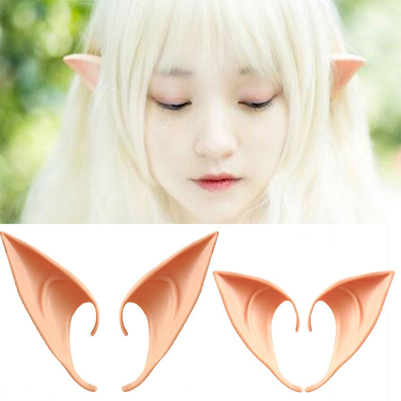 Halloween Mysterious Elf Ears Party Decorations Cosplay Prosthetic Latex Artificial Elf Ears Halloween Costume Dress Up Props - 88digital