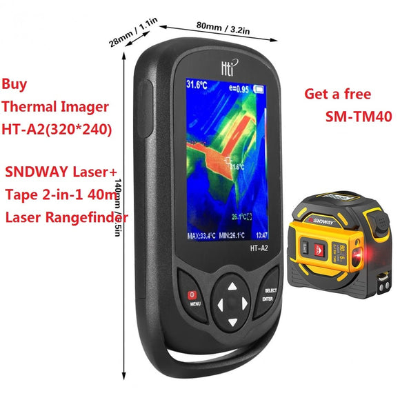 HT-A2 TFT Display Screen Thermal Infrared Imager Camera Detector Temperature Meter Measuring Tools 100-240V 640*480 HT-A1