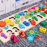HOT SALE Baby Toys Colorful Wooden Blocks Baby Music Rattles Graphic Cognition Early Educational Toys For Baby 0-12 Months