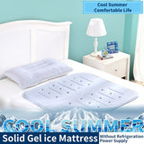 90*9Scm Summer Trumpet Solid Gel Ice Pad Cooling Artifact Bedding Cooling Mattress Sleeping Pad Ice Pillow