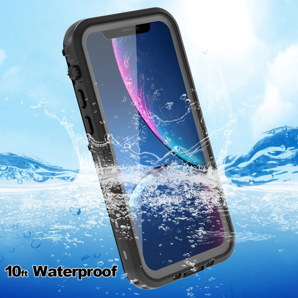Waterproof Case for iPhone 11 Swimming Diving Outdoor Shockproof Cover for iPhone 11 Pro Max Full Protection with Stand - 88digital