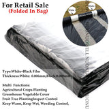 5m 2-Rows White Agriculture Black Film Vegetable Planting Plastic Mulching Film