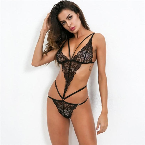 Teddy Sex Costumes Plus Size Sexy Lingerie Women Lace Perspective Babydoll Transparent Erotic Lingerie Sexy Female Underwear