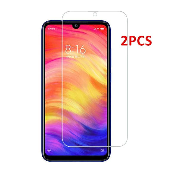 2PCS Glass For Xiaomi Redmi Note 7 8 Pro 7A Screen Protector Tempered Glass For Xiaomi Redmi 8A Glass Protective Phone Film