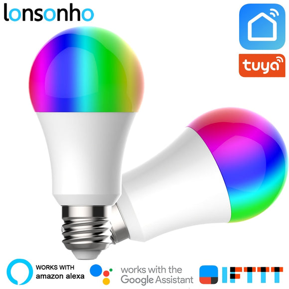 RGB Wifi Smart Light Bulb Lamp 7W 9W Tuya Smart Life Wireless Remote Control Works With Alexa Google Home - 88digital