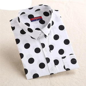 Dioufond White Navy Lips Print Women Blouses Long Sleeve Ladies Office Blouse Shirt  Casual Button Down Blusa 2017 Spring