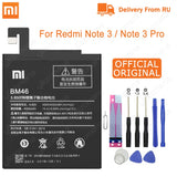Xiao Mi Original BM46 Battery Real 4000mAh For Xiaomi Redmi Note 3 / Note 3 Pro Replacement Phone Batteries Free Tools