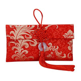 Chinese Red Envelope Cloth Happy New Year High-grade Brocade Wedding Tassel Knot Money Pocket Art Betrothal Gift Bag USA