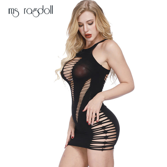 ms ragdoll Sexy Lingerie Women Fishnet Sex Toys Porno Hollow Bodysuit Erotic Dress Mujer Nightwear Underwear Sex Product