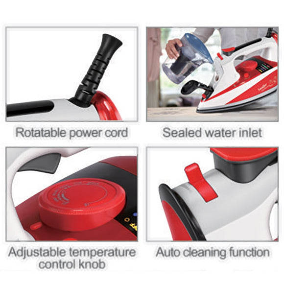 2200W Electric Irons Steam Digital LED Display For Clothes High Quality Multifunction Ceramic Travel Iron Ironing 220V Sonifer
