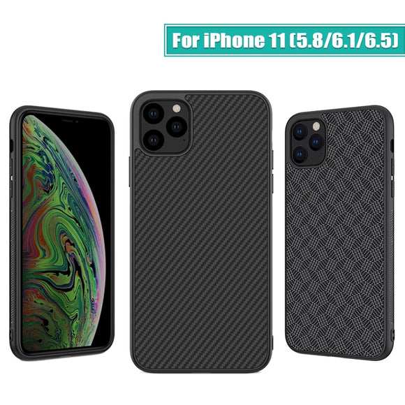 Nillkin Synthetic fiber Carbon Back Cover & Nylon for iPhone 11 case thin slim for iPhone 11 Pro case 5.8/6.1/6.5 For iPhone11 - 88digital