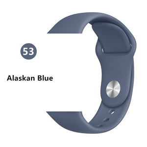 Strap for apple watch band 42mm or 44mm ML iwatch band Sport silicone belt for bracelet apple watch 5 4 3 2 accessories 42