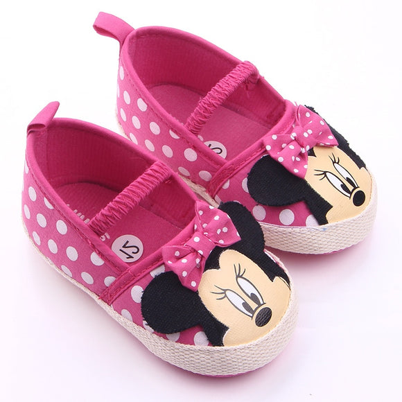 0-18 Months Cute Newborn Baby Girl Shoes Toddler Girl Princess Baby Shoes Bowknot Polka Dot Flower Soft-Soled Crib Shoe