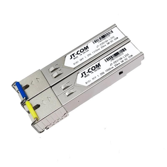 2pcs SFP Module SC connector Gigabit DDM BIDI mini gbic 1000Mbps Optical tranceiver module Compatible with Mikrotik Cisco Switch