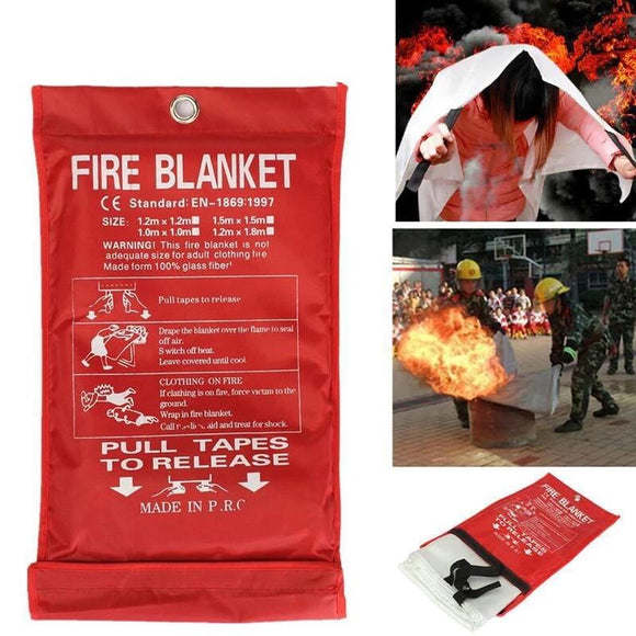 1MX1M Fire Blanket Emergency Survival Fire Shelter Safety Protector Fire Extinguishers Tent - 88digital