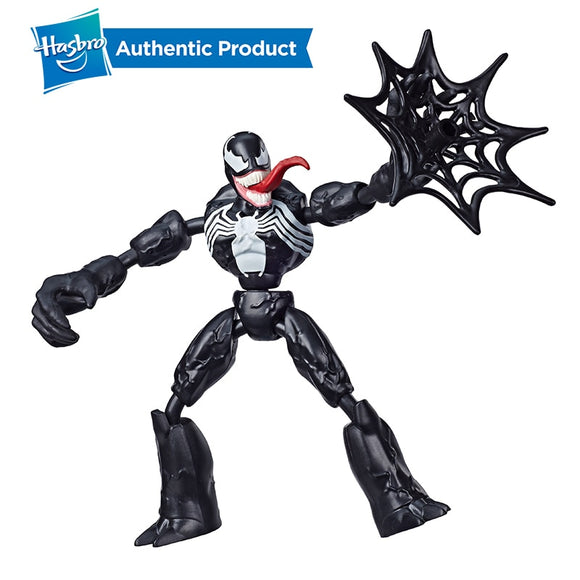 Hasbro Marvel Spider-Man Bend and Flex Venom Action Figure Toy 6-Inch Flexible Figure Includes Web Accessory For Kids