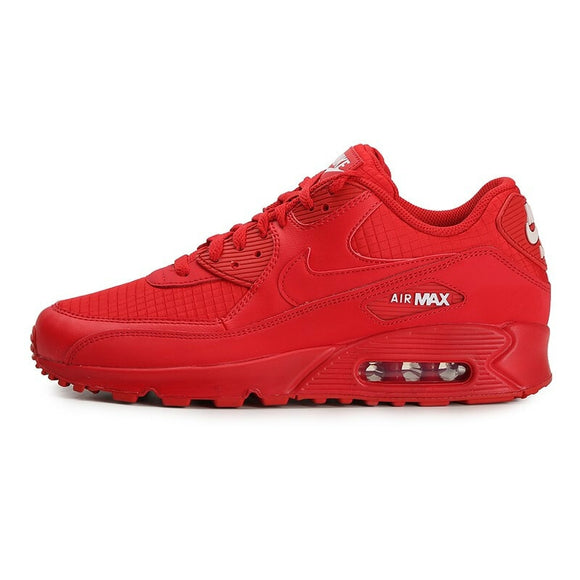 NIKE AIR MAX 90 ESSENTIAL All Red University Red White Women's Running Shoes Sport Outdoor Sneakers Athletic Designer Footwear AJ1285-602
