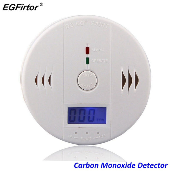 Home Security LCD Carbon Monoxide Detector Independent CO Gas Sensor 85dB Warning-up High Sensitive Poisoning Alarm Detector - 88digital