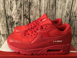 NIKE AIR MAX 90 ESSENTIAL All Red University Red White Men's Running Shoes Sport Outdoor Sneakers Athletic Designer Footwear AJ1285-602