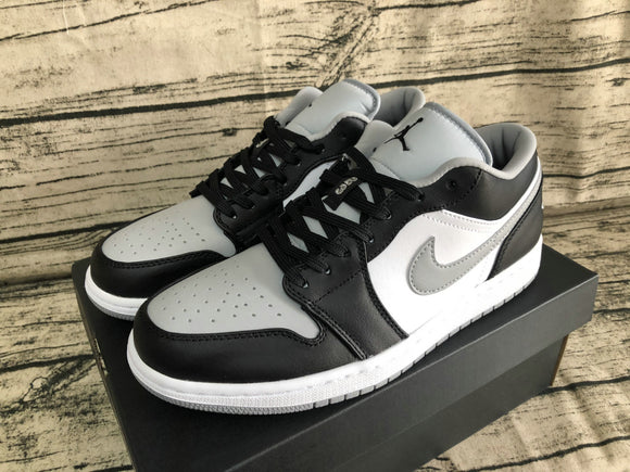 Nike AIR JORDAN 1 Low Black Black Light Smoke Grey White Men Shoes Sneakers Size 40-45 / 7-11 553558-039