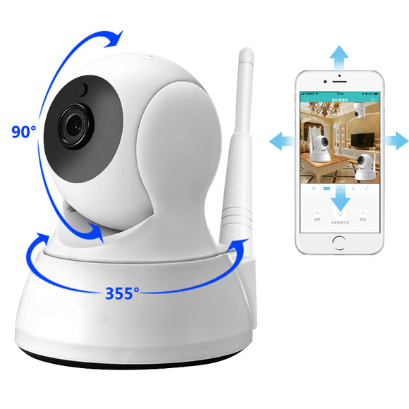 IP Camera Home Security Two Way Audio HD 720P Wireless Mini Camera 1MP Night Vision CCTV WiFi Camera Baby Monitor - 88digital