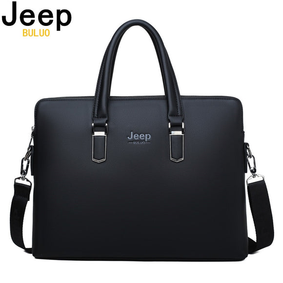 Men Leather Briefcase Bag Business Famous Brand Shoulder Messenger Bags Office Handbag 14 inch Laptop High Quality - 88digital