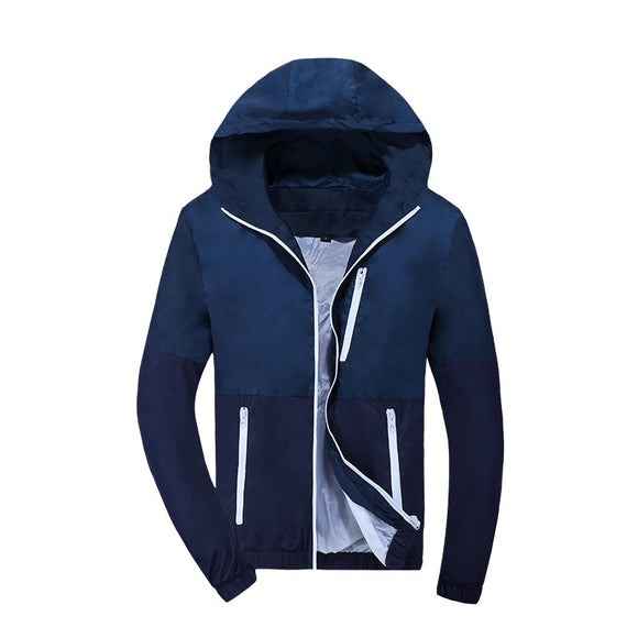 Jacket Men Windbreaker Spring Autumn Fashion Jacket Men's Hooded Casual Jackets Male Coat Thin Men Coat Outwear - 88digital