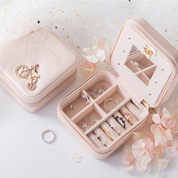 Jewelry Packaging Box Casket Box For Exquisite Makeup Case Cosmetics Beauty Organizer Container Boxes Graduation Birthday Gift USA - 88digital