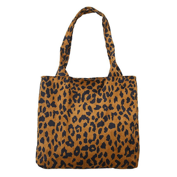 Carry-All Leopard Crossbody Bag Single Shoulder Utility Tote Women Weekender Haul It All Shopping Bag - 88digital
