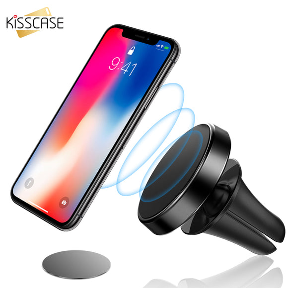 KISSCASE Air Vent Mount Car Phone Holder For iPhone X 7 Magnetic Car Holder Magnet support smartphone voiture Phone Car Holders - 88digital